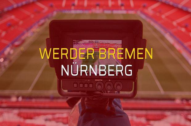 Werder Bremen - Nürnberg maçı ne zaman?