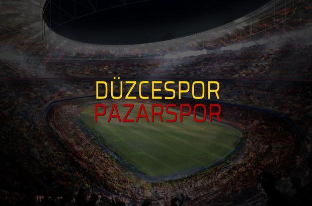 Düzcespor - Pazarspor maçı istatistikleri