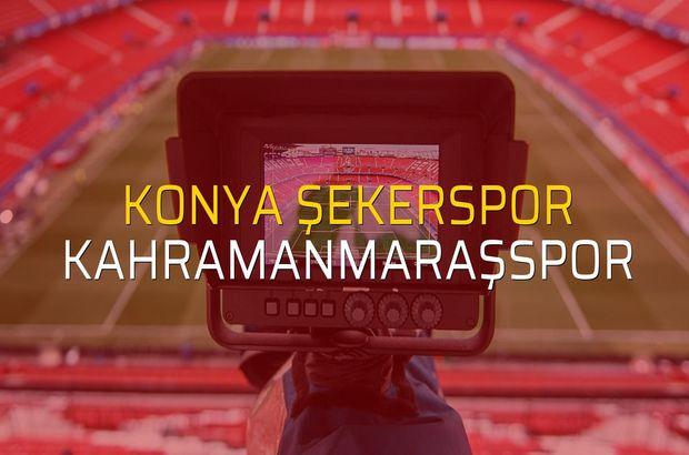 Konya Şekerspor - Kahramanmaraşspor maçı rakamları
