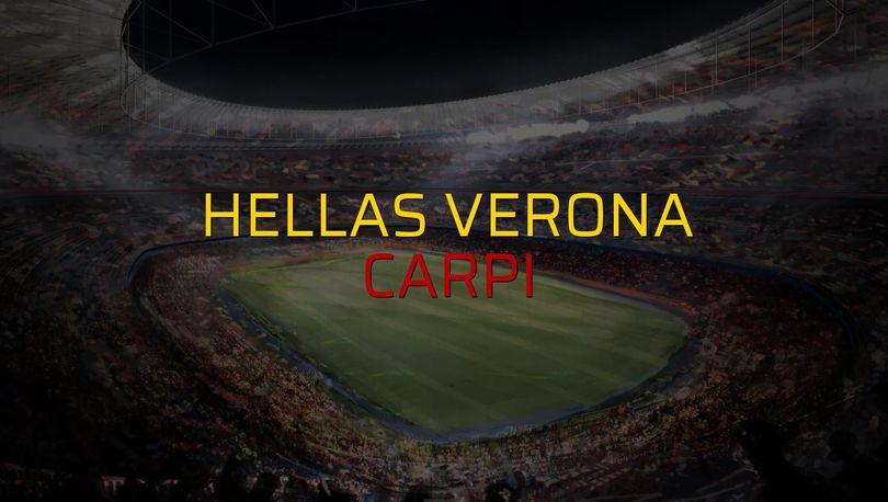 Hellas Verona - Carpi maçı öncesi rakamlar