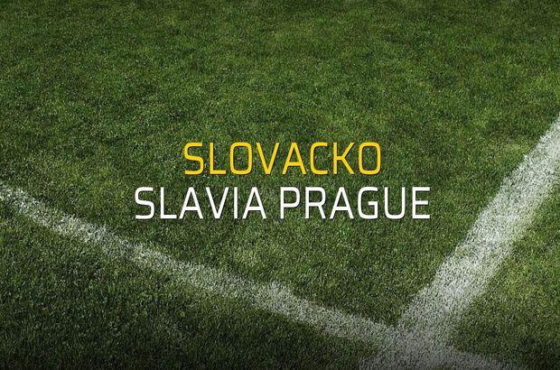 Slovacko - Slavia Prague maçı istatistikleri