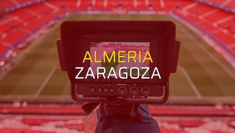 Almeria - Zaragoza maç önü