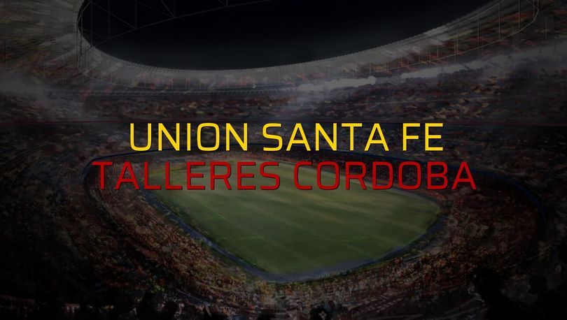 Union Santa Fe - Talleres Cordoba sahaya çıkıyor
