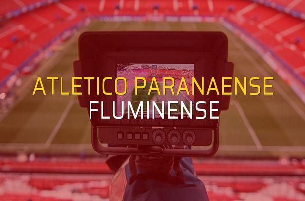 Atletico Paranaense - Fluminense maçı öncesi rakamlar