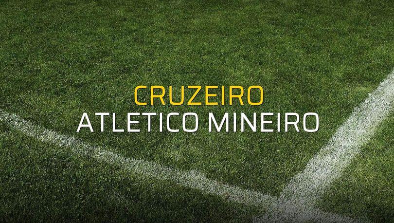 Cruzeiro - Atletico Mineiro maçı rakamları