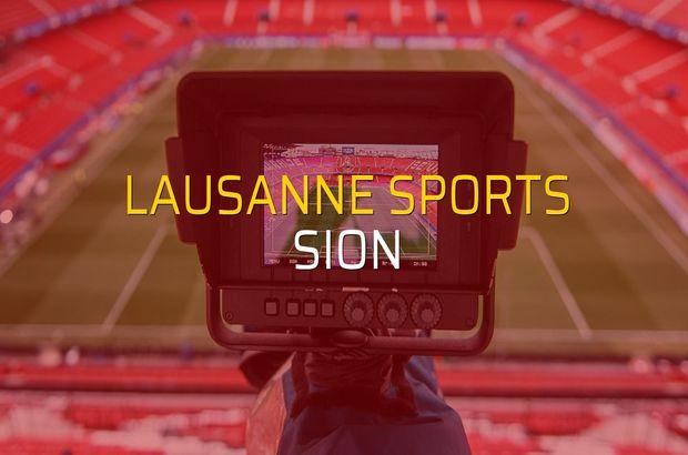 Lausanne Sports - Sion maçı istatistikleri