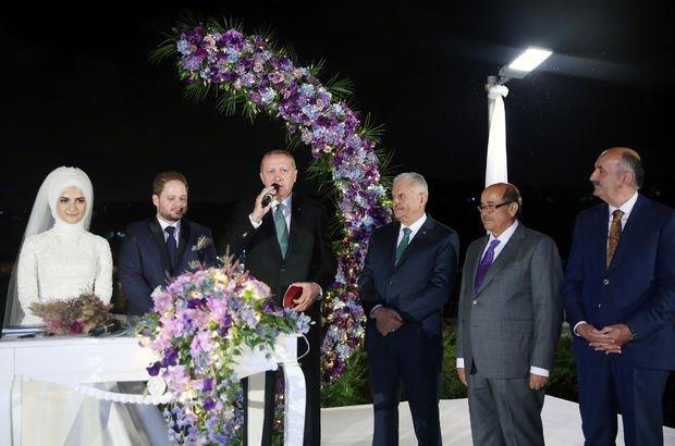 Başkan Erdoğan Saide Simin Mercanın nikah şahidi oldu 41