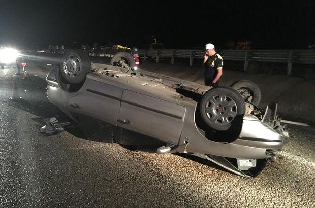 Kontrolden çıkan otomobil bariyerlere çarptı: 1 ölü, 1 yaralı