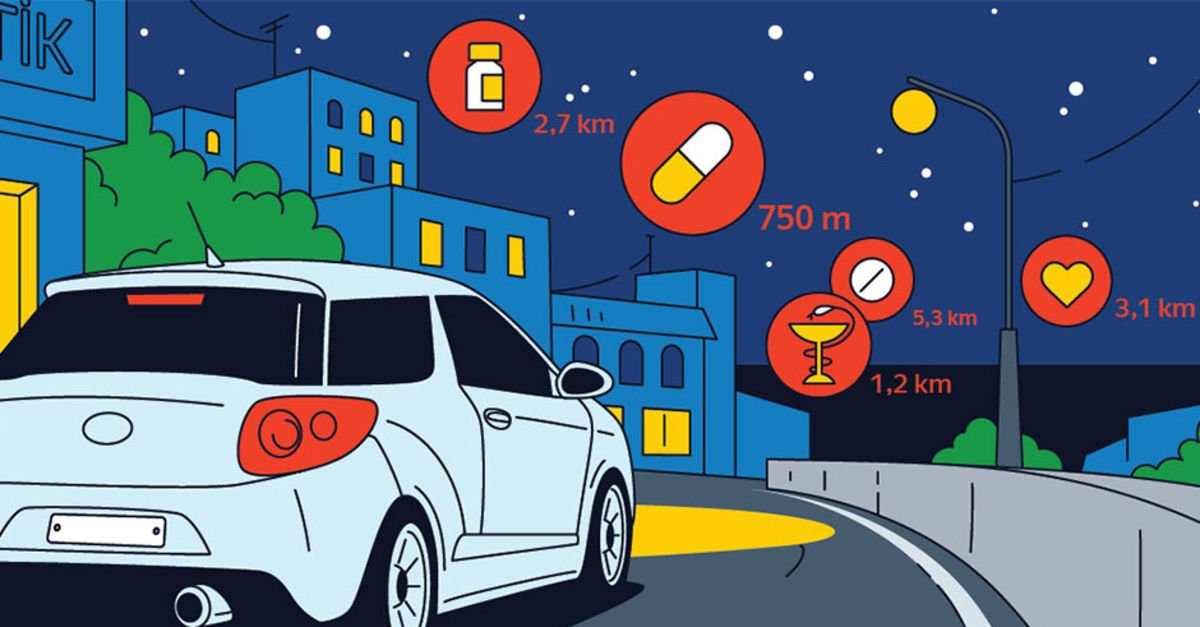 Yandex Navigasyon'a nöbetçi eczaneler özelliği