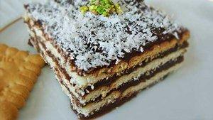 Bisküvili pasta tarifi.. Pudingli bisküvili pasta kaç kaloridir?