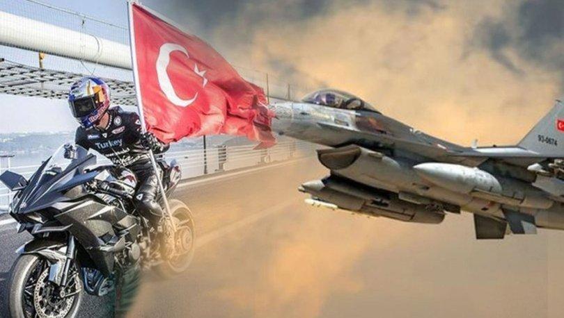 Son dakika! Kenan Sofuoğlu vs F-16! Prova yapıldı