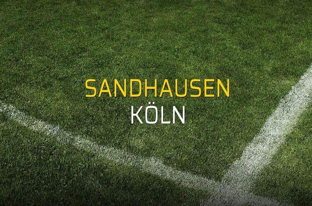 Sandhausen - Köln düellosu