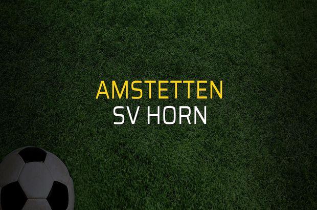 Amstetten - SV Horn rakamlar