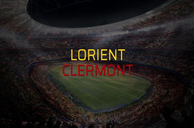 Lorient - Clermont maçı rakamları