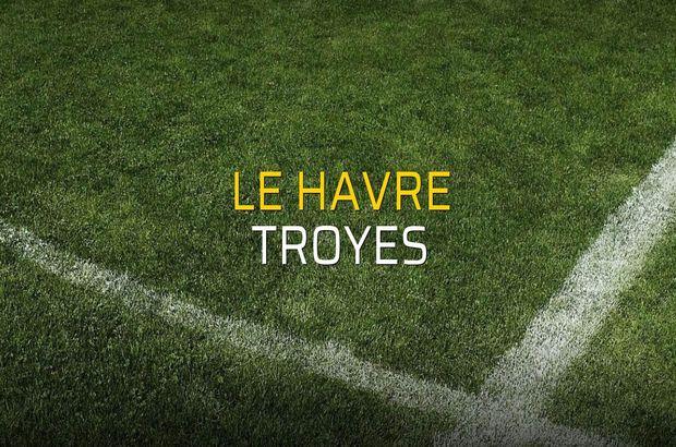 Le Havre - Troyes maçı öncesi rakamlar