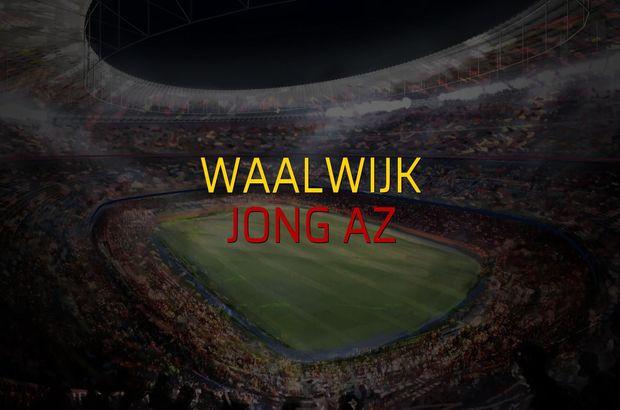 Waalwijk - Jong AZ maçı rakamları