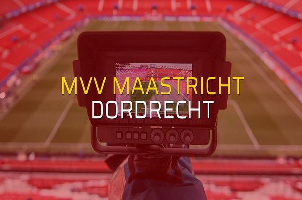 MVV Maastricht - Dordrecht maçı öncesi rakamlar
