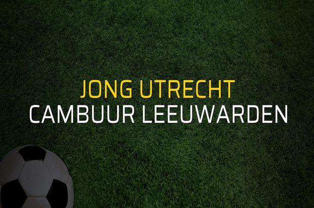 Jong Utrecht - Cambuur Leeuwarden maçı heyecanı