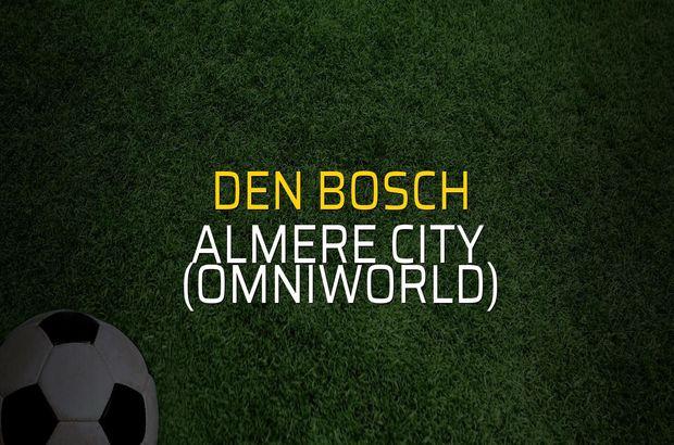 Den Bosch - Almere City (Omniworld) maçı heyecanı