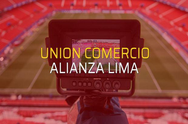 Union Comercio - Alianza Lima maçı istatistikleri