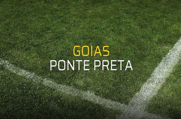 Goias - Ponte Preta maç önü