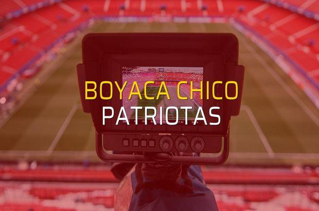 Boyaca Chico - Patriotas maçı rakamları