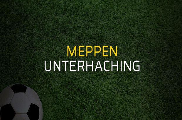 Meppen - Unterhaching maçı rakamları