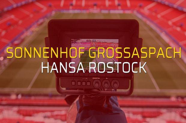 Sonnenhof Grossaspach - Hansa Rostock karşılaşma önü