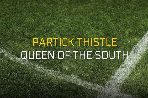 Partick Thistle - Queen of the South rakamlar