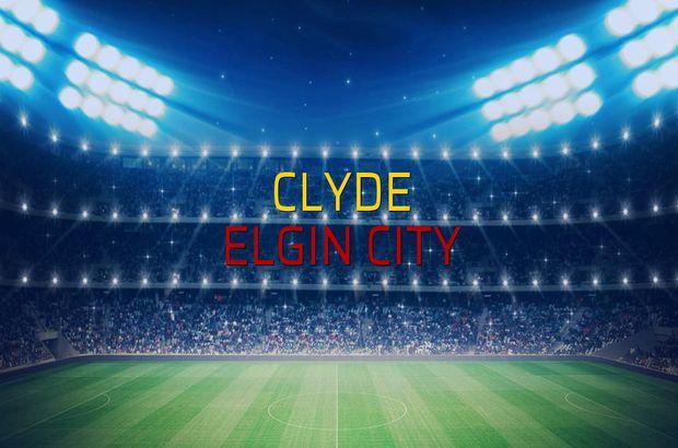 Clyde - Elgin City maç önü