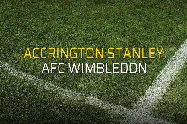 Accrington Stanley - AFC Wimbledon karşılaşma önü
