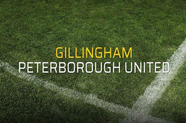 Gillingham - Peterborough United maçı istatistikleri