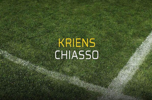 Kriens - Chiasso sahaya çıkıyor
