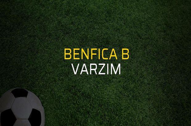 Benfica B - Varzim maçı rakamları