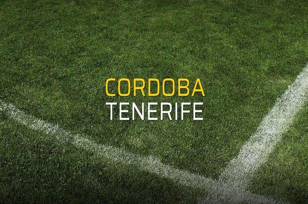 Cordoba - Tenerife karşılaşma önü