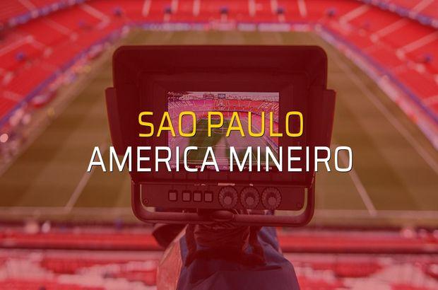 Sao Paulo - America Mineiro rakamlar