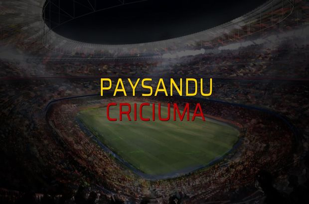Paysandu - Criciuma maçı heyecanı