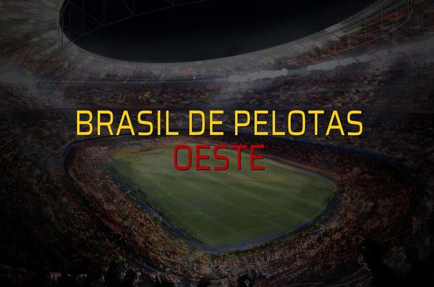 Brasil De Pelotas - Oeste maçı heyecanı