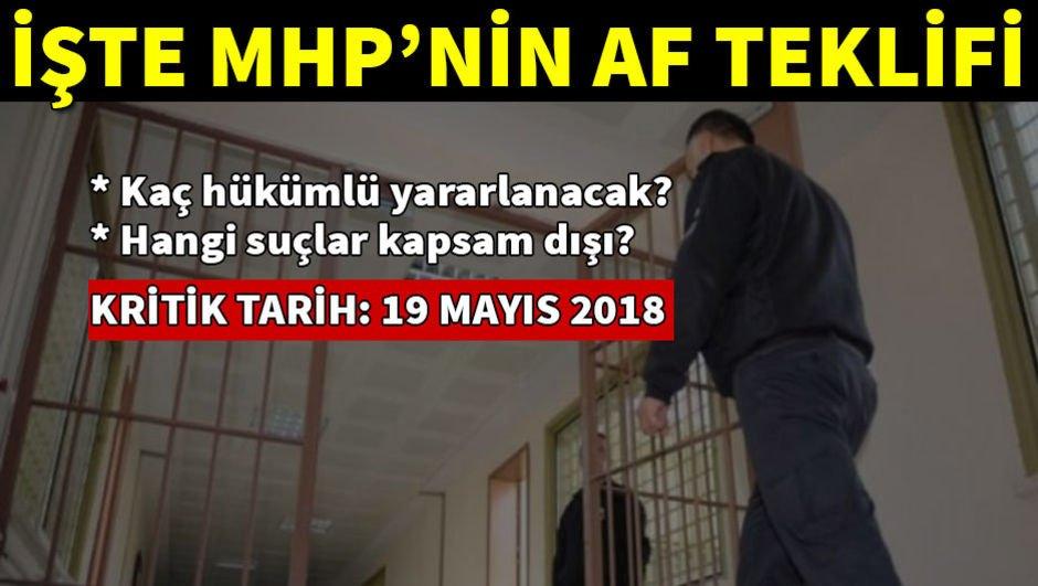 İşte MHP'nin af teklifi