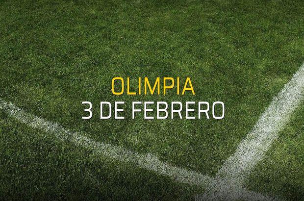 Olimpia - 3 de Febrero rakamlar
