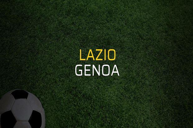 Lazio - Genoa maçı istatistikleri