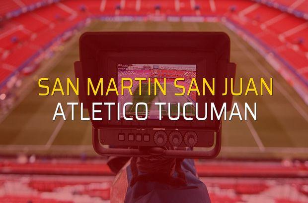San Martin San Juan - Atletico Tucuman karşılaşma önü
