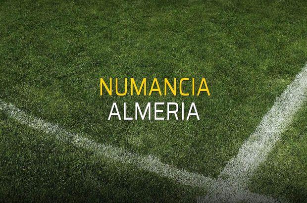 Numancia - Almeria sahaya çıkıyor