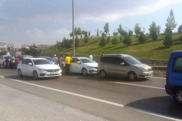 Başkent'te 17 araç birbirine girdi