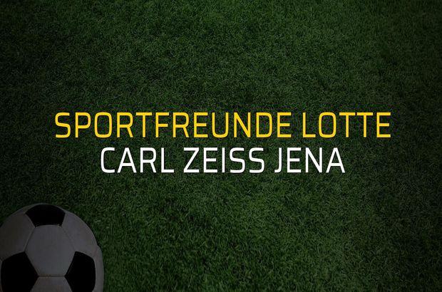 Sportfreunde Lotte - Carl Zeiss Jena maçı heyecanı
