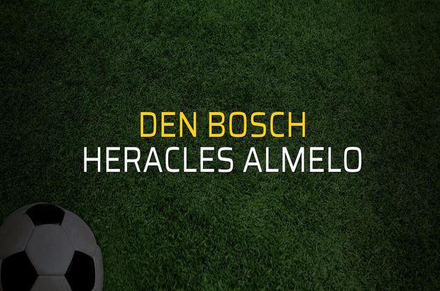 Den Bosch - Heracles Almelo karşılaşma önü