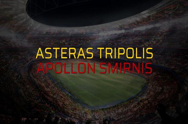 Asteras Tripolis - Apollon Smirnis maçı heyecanı