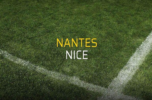 Nantes - Nice rakamlar