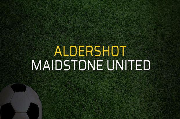 Aldershot - Maidstone United maçı istatistikleri