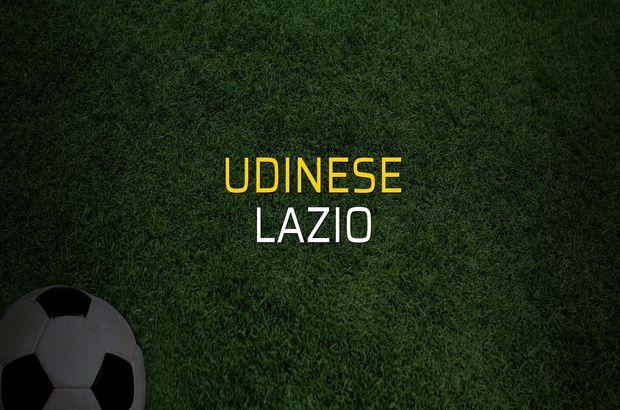 Udinese - Lazio maçı rakamları